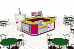 Дизайн торгового острова «Баббл чай»