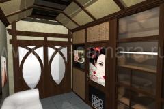 Дизайн коридора спа-салона «Асахи» отель Ренессанс