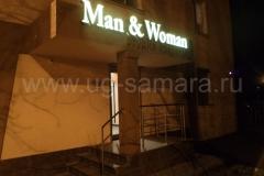 """Световые рекламные вывески для салона красоты """"Man & Woman"""""""